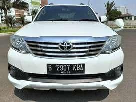 FORTUNER TRD SPORTIVO AT Diesel 2012 Putih Bisatt Pajero Rush CRV 2018