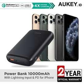 Aukey Powerbank 10.000 mAh QC 3.0 & PD - SKU : 500382