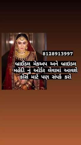Contact us for bridal makeup and bridal mehendi