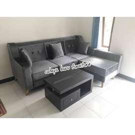 sofa tamu 1 sett murmer