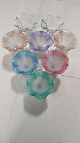 Flower Ice Cream Poly / Gelas Plastik Untuk Es Krim Bentuk Bunga