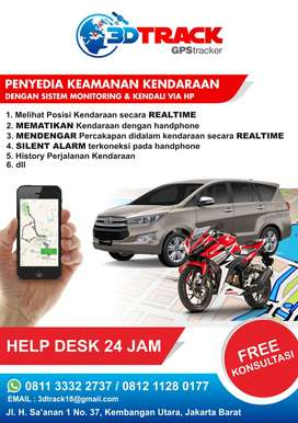 GPS TRACKER PELACAK MOTOR + PASANG *3DTRACK