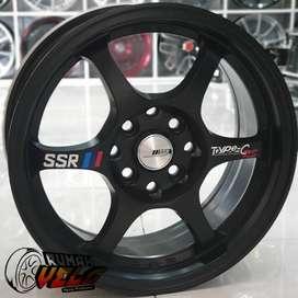 Velg Mobil Racing R15 Type C Pcd 4-100/114,3 Lebar 7 yaris agya ayla