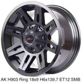 toko velg racing ring18 lubang6 model AK H903 HSR buat everest
