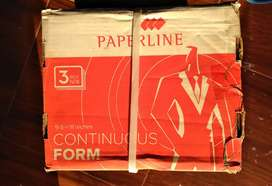 Kertas countinous form 3 ply warna PRS Paperline