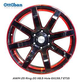JUAL VELG AWM 25 R20 X8,5 H6X139,7 ET15 PAJERO,HILUX,LC/.