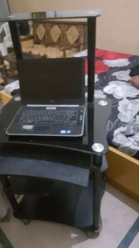 Computer Table Trolly in Black