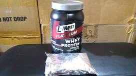 Suplemen Fitnes L-Men Platinum 250gr Whey Isolate Plus Pembakar Lemak