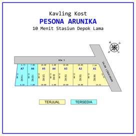 Kualitas Premium, Kavling Sukmajaya Depok: Luas 100an