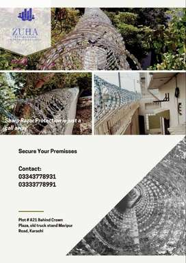 Razor barbed Wire| Sharp Security Fencing| Protection Wire| Chain-link