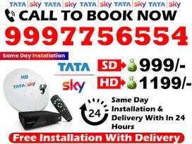 Tata Sky SD/HD Box Dish Tv Airtel Tv & tatasky Free Installation