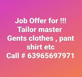 Gents Tailor Master for cutting and stitching at ambala city