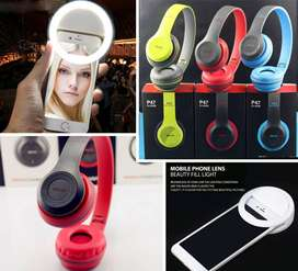 Wireless Headphones and Selfie Ring Lights Available