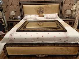 New Versace bed set two side table and  dressing