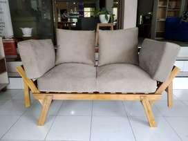 Sofa 2 Seater Kayu Jati