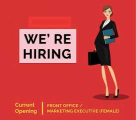 Required an receptionist for a marketing company