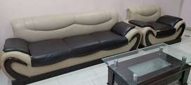7 seater regsin sofa set with center table