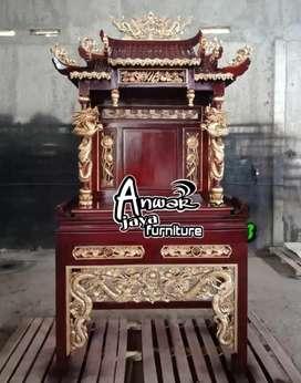 Meja sembayang china ukir material kayu jati ajf142