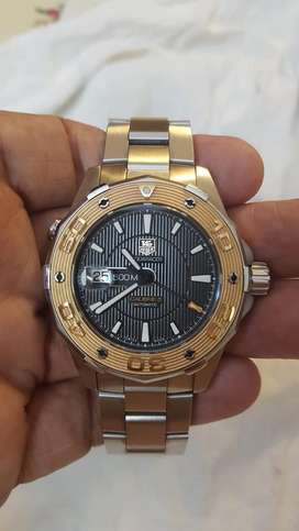 Tag Heuer ultra luxury caliber 5 gold watch