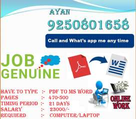 Require Data Entry Operators & data conversing job for home based work
