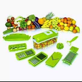 Genius Nicer Dicer Plus Chopper Fruit chat Salad Vegetable Cutter