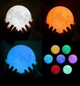 Moon lamp (multicolor) with wooden Stand