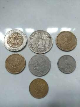 Uang Koin Rp 25,50,100,500,1.000... untuk kolektor atw jasa lain nya