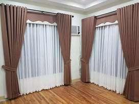 Gorden Minimalis Gordyn Korden Gordeng Hordeng Vitrase Curtain 442