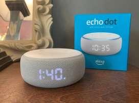 Amazon echodot 3rd generation with clock