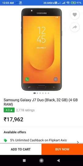 Samsung j7 duo 4gb/32gb