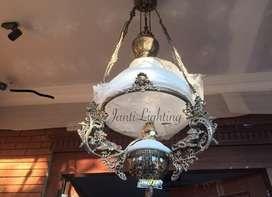Lampu gantung antik repro lampu joglo lampu jawa lampu kerek betawi