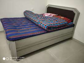 King size Double Bed with Storage&Mattress.Gray