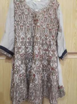 dress with heavy work with trouser and dupata