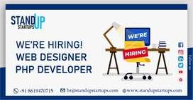 Urgent hiring Website developer and designer