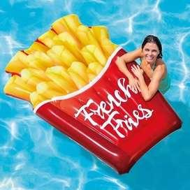 Pelampung French Fries Float intex 58775 / Floaties / matras air