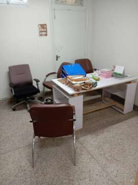 Office tables, partations and rags
