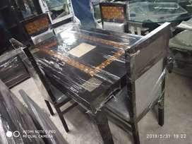 Y r k brand take wood dining set 4 seater