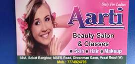 Required femal beautician at Aarti Beauty parlour