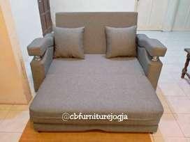 sofa bed satu Warna,