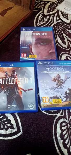 Horizon complete edition,detroit became human ,battlefield I PS4 games