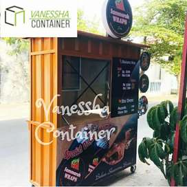 BOOTH SEMI CONTAINER / CONTAINER COFFEE SHOP / CONTAINER ANGKRINGAN