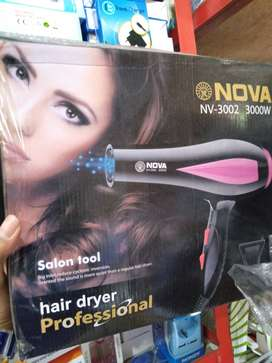 hairdryer hair dryer pengering rambut nova 3002 panas (sinar kita)