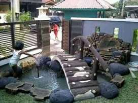 Jasa pembuatan kolam relief hiasan taman