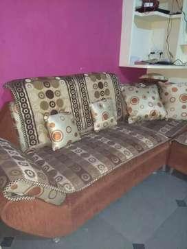 Spring Sofa set 2x2 + corner with 2 puffy