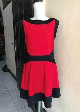MIDI DRESS BLACK RED DRESS