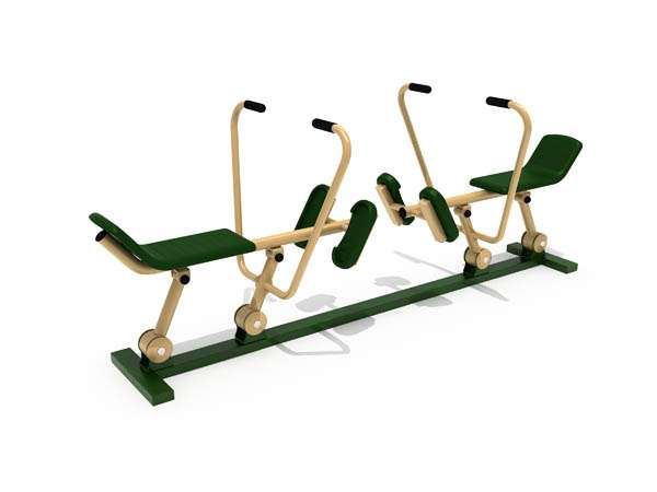 Double Rowing Machine Alat Fitnes Outdoor Murah Garansi 1 Tahun 0