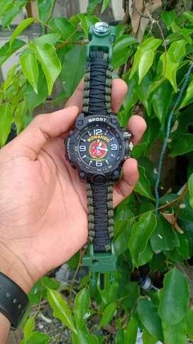 Jam tangan survival custom