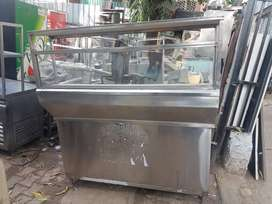 Chat counter snacks counter pav bhaji stainless steel good looking