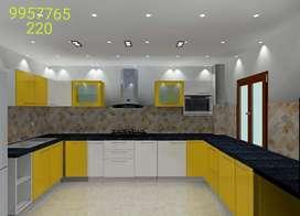 We make modular kitchens, interior designing
