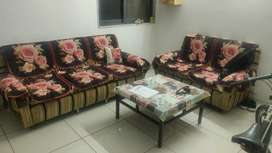 Sofa + Center table and dining table set for sell